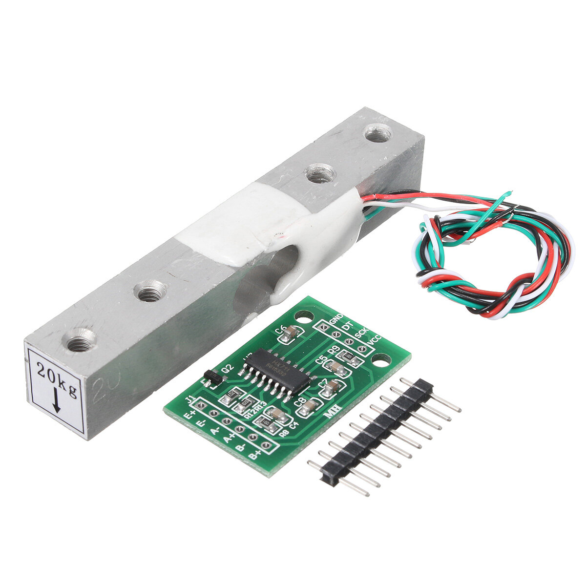 Hx711 Module 20kg Aluminum Alloy Scale Weighing Sensor Load Cell Interface Circuit Kit For Arduino