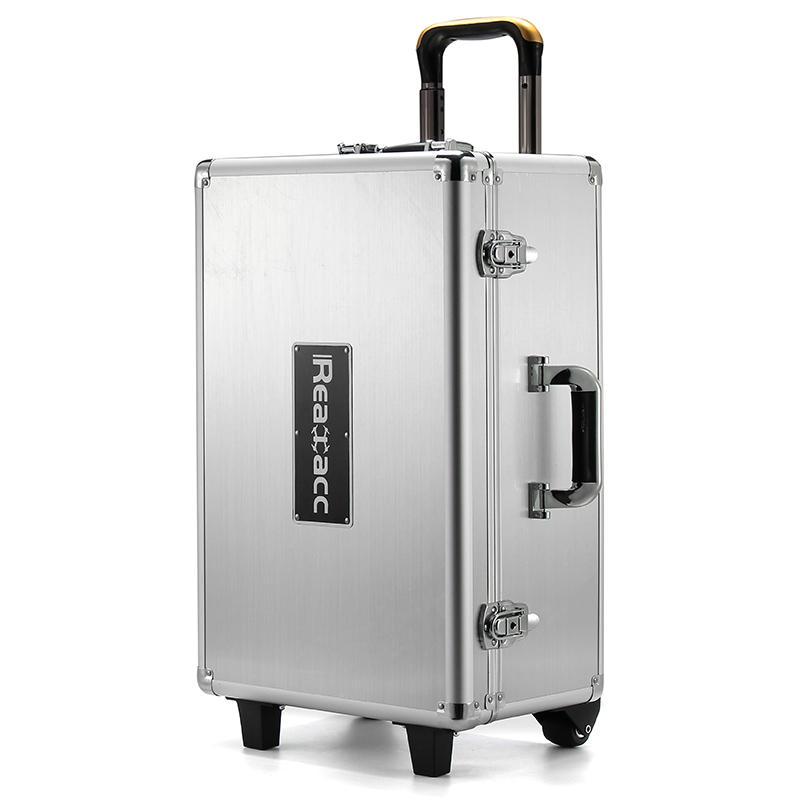 RealaccすべてのアルミニウムトロリーケースプルロッドハンドボックスケースFor DJI Phantom 4/DJI Phantom 4プロ
