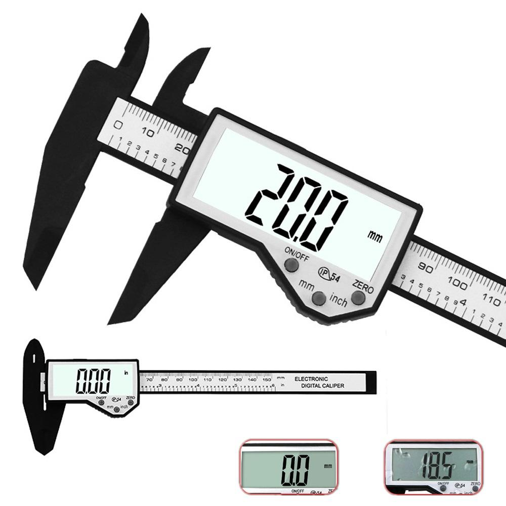 Digital Caliper 6-Inch 150mm Electronic Waterproof IP54 Digital Vernier Caliper LCD Screen Display Micrometer Measuring Tool Caliper