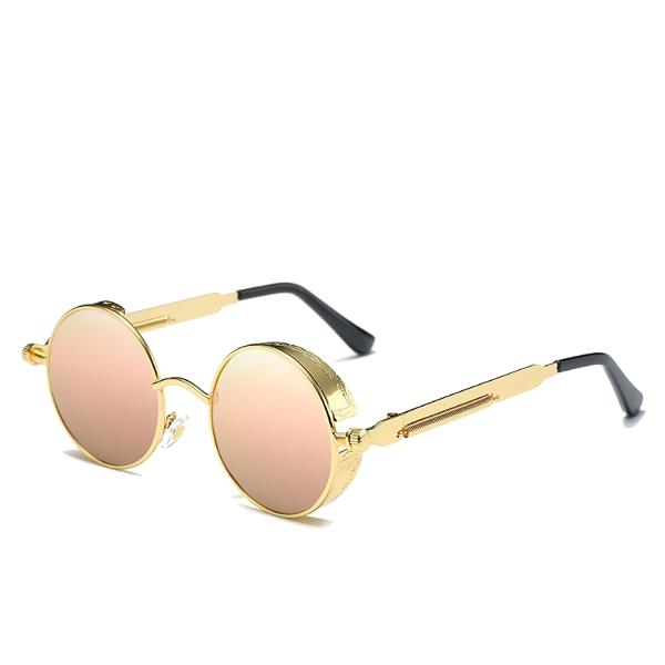 d0b963cff5 UV400 Vintage Steampunk Round Mirror Lens Sunglasses Outdoor Sport Hisper  Eyewear For Man Women COD