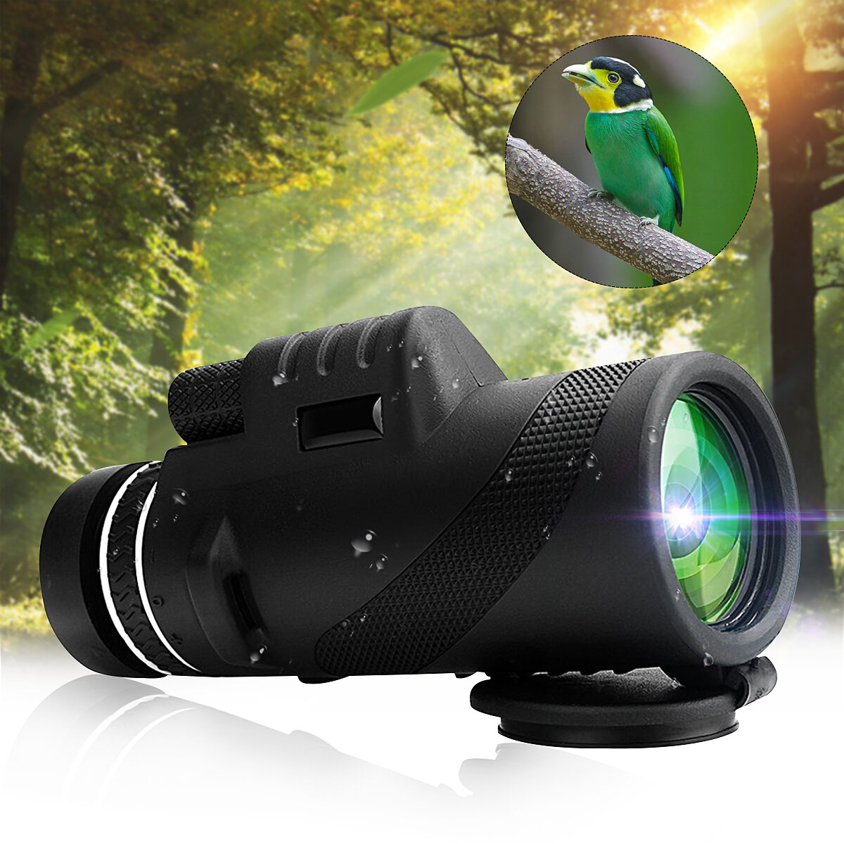 IPRee® 40x60 Outdoor Portable Monocular HD Optic Day Night Vision Telescope Camping Hiking