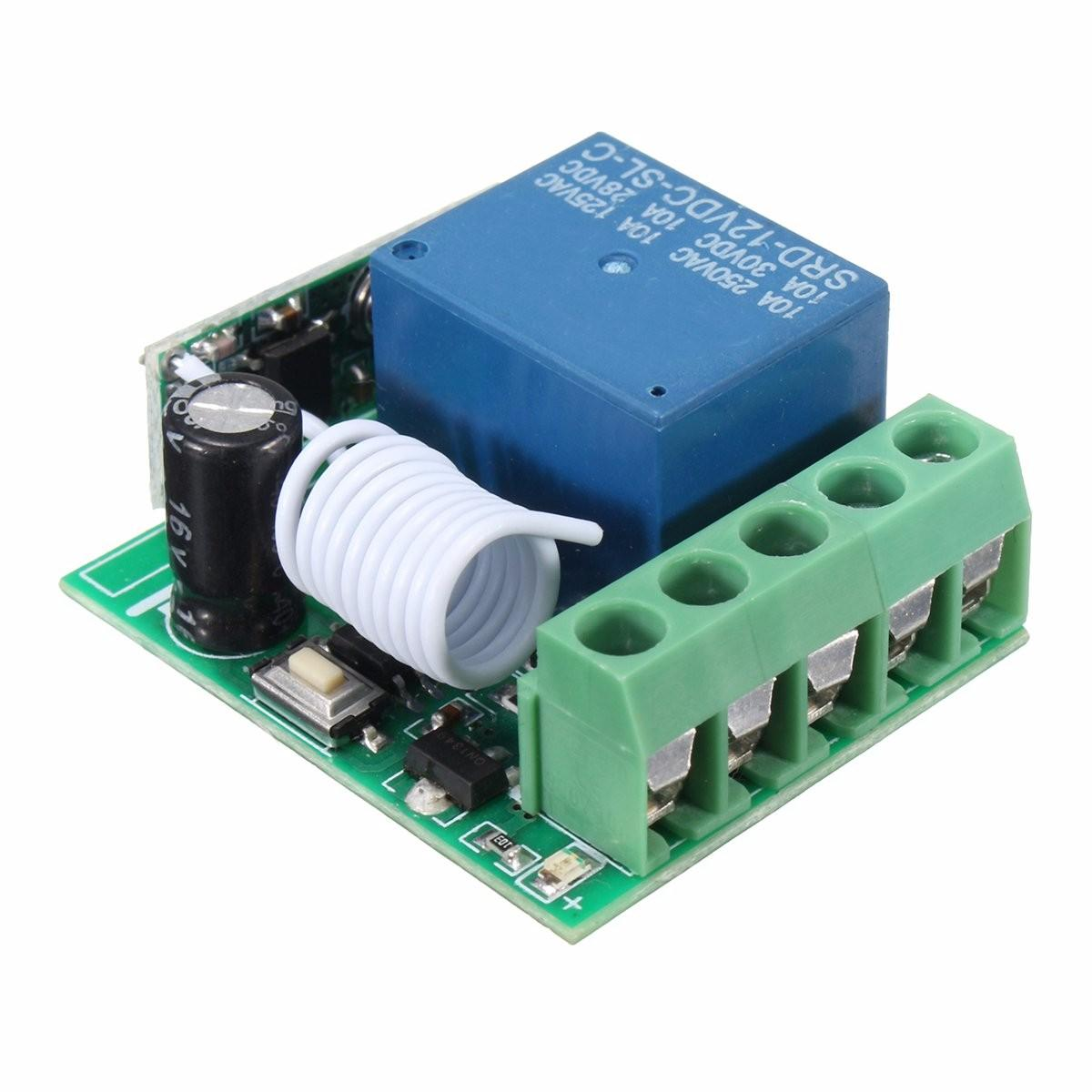 315mhz Dc12v 10a 1ch Single Channel Wireless Relay Rf Remote Control The And To Another Circuit Switch Receiver Module