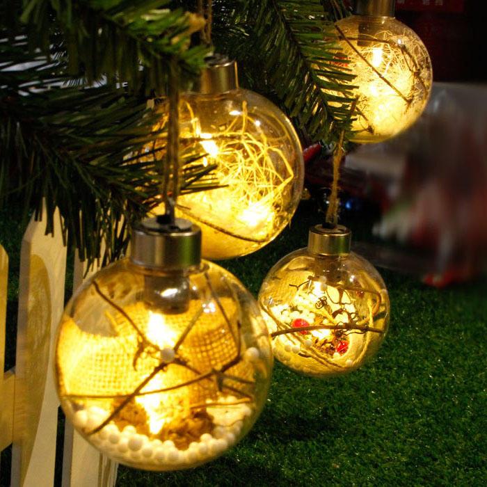 คริสมาสต์ LED ไฟต้นคริสต์มาสหลอดไฟหลอดไฟแขวนประดับตกแต่งเทศกาลบ้าน