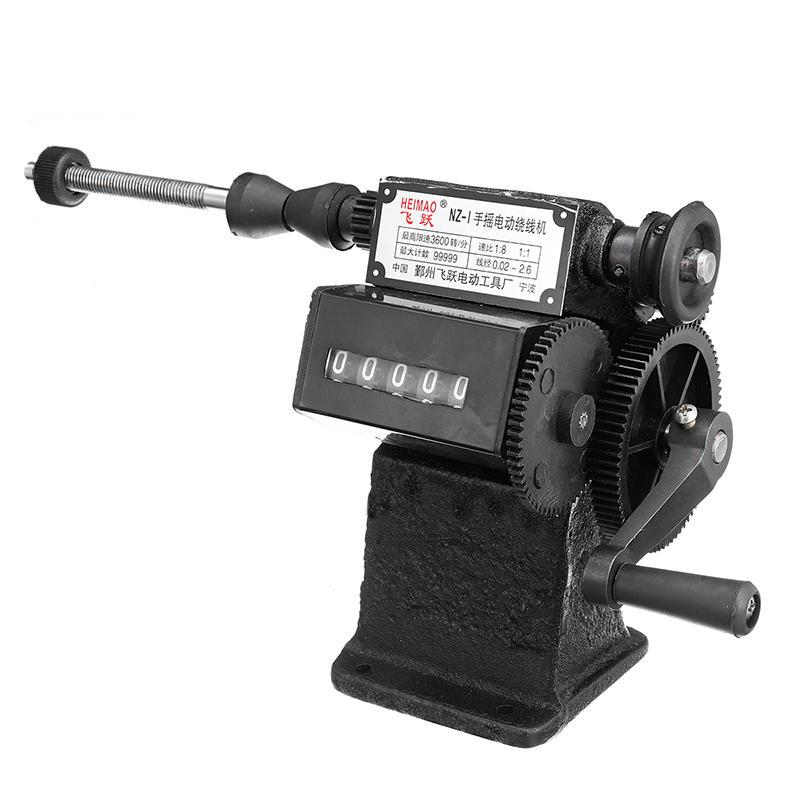 3600 مرات / دقيقة NZ-1 كتيب اليد الكهربائية المزدوجة الغرض لف اللف يلف آلة العد