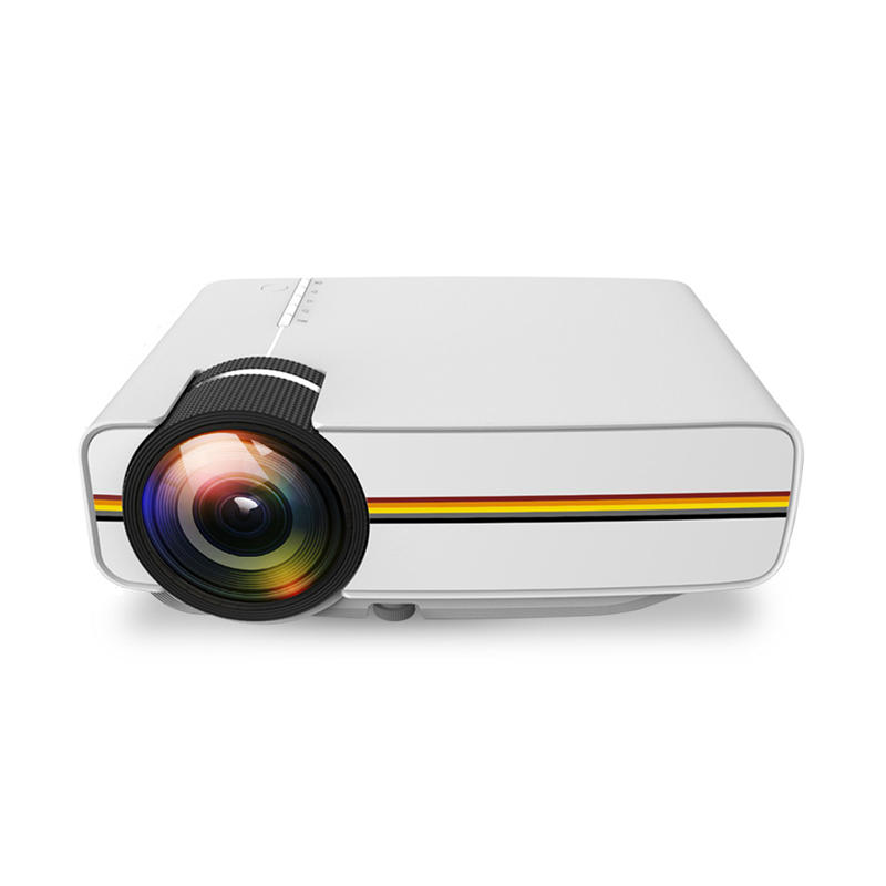 YG410 LED Projector Wired Connection Multi-Screen Airplay Mirroring 1080P 800x480p 1000 Lumens LCD
