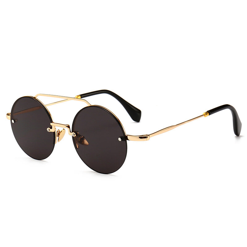 c6699062acc Men Women Outdoor Casual Narrow Frame Modern Retro Round Sunglasses COD