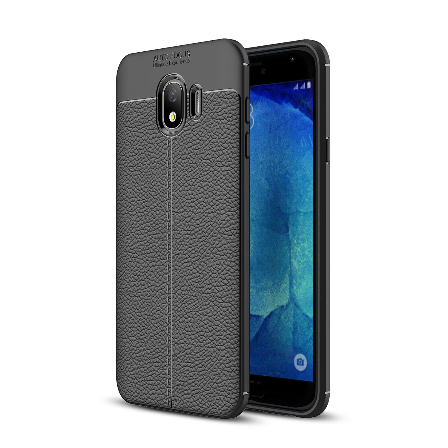 Bakeey Litchi Leather Soft TPU Housse de protection pour Samsung Galaxy J4 2018 EU Version