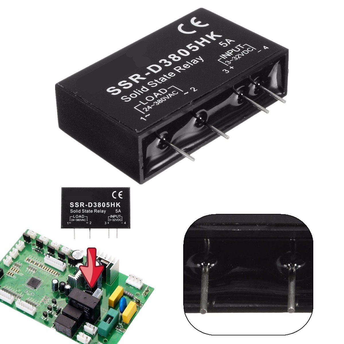 Dc 3 32v 5a Ac Ssr D3805hk Control Solid State Relay Module Sale Circuit