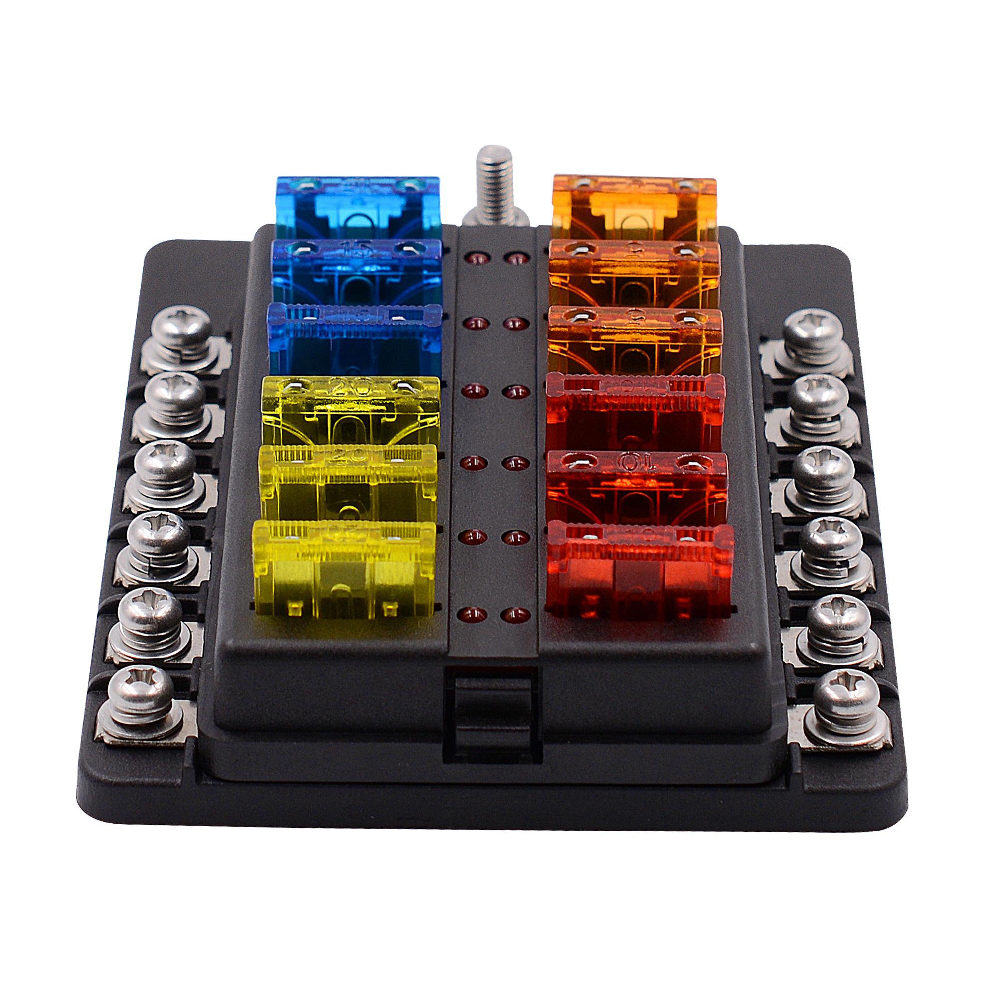 fuse box labels kit imars    12 way    fuse       box    12v 32v circuit standard blade  imars    12 way    fuse       box    12v 32v circuit standard blade