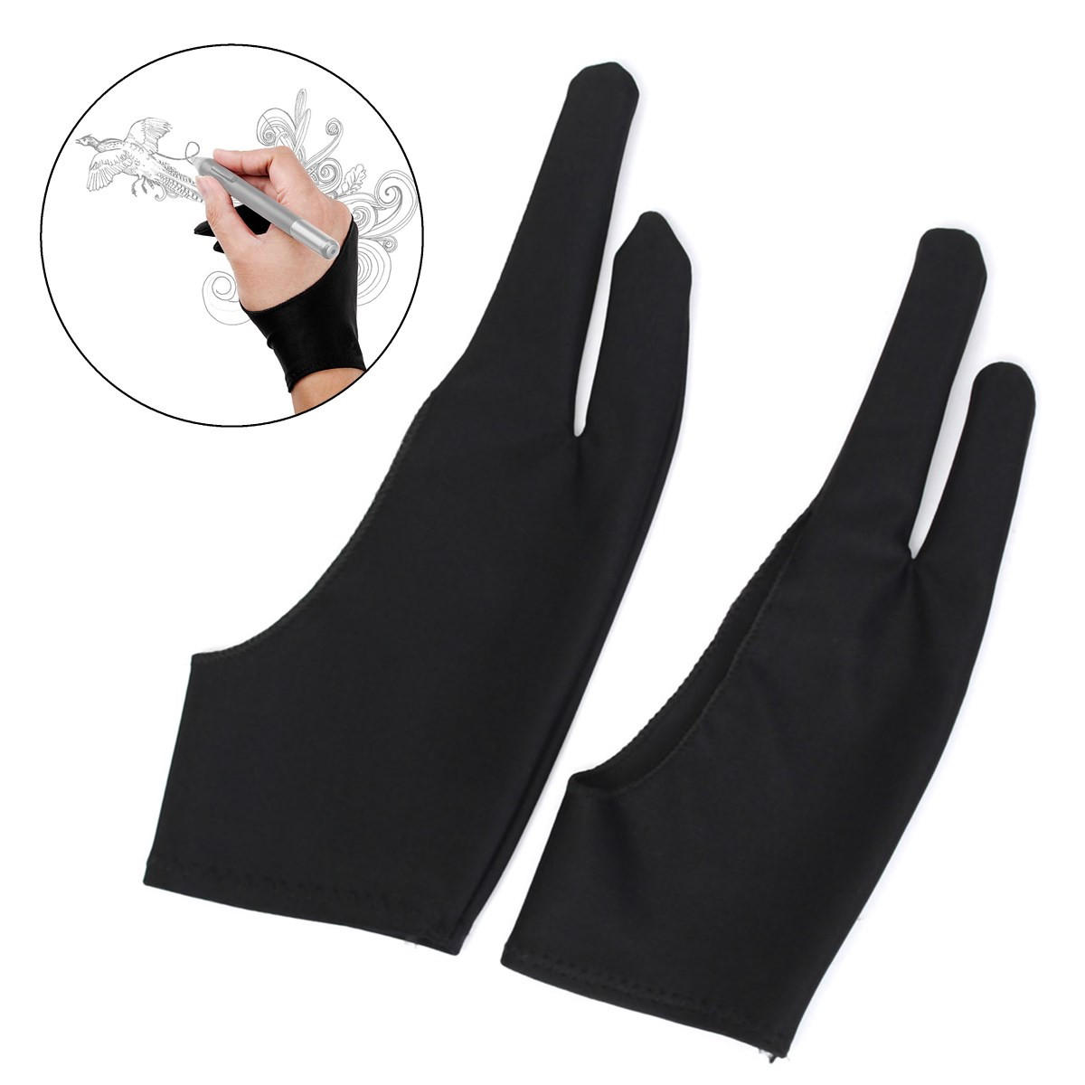 Artist Drawing Two Finger Glove For Graphics Drawing Pen Tablet