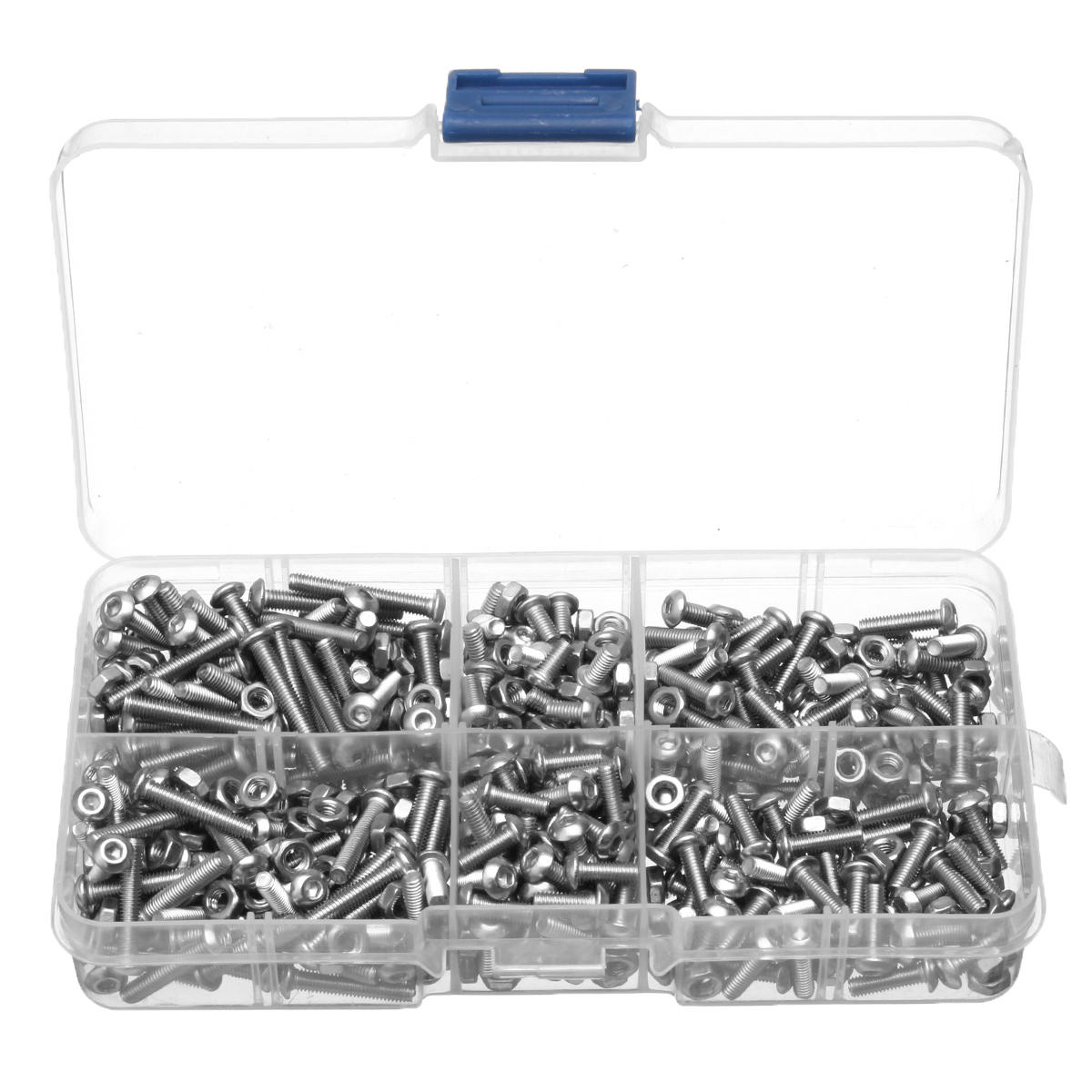 600Pcs M3 Hex Socket Button Head Screw Bolt Nuts 304 Stainless Steel