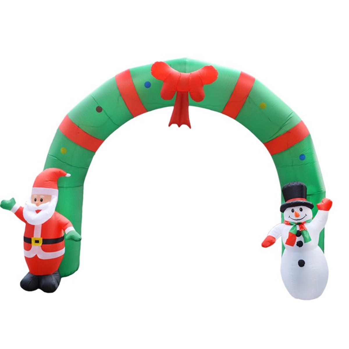 250cm huge inflatable christmas arch archwaysanta snowman indoor outdoor decorations - Huge Inflatable Christmas Decorations