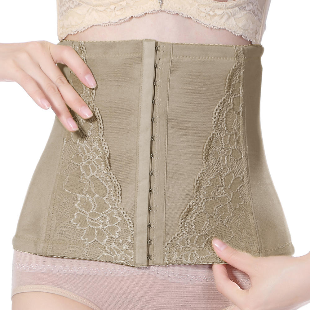 6d8e6a292f front hook-and-eye girdle breathable waist cinchers at Banggood