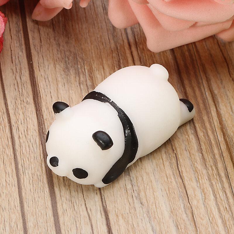 팬더 스퀴시 짜기 귀여운 치유 장난감 카와이 컬렉션 선물 장식 스트레스 릴리버