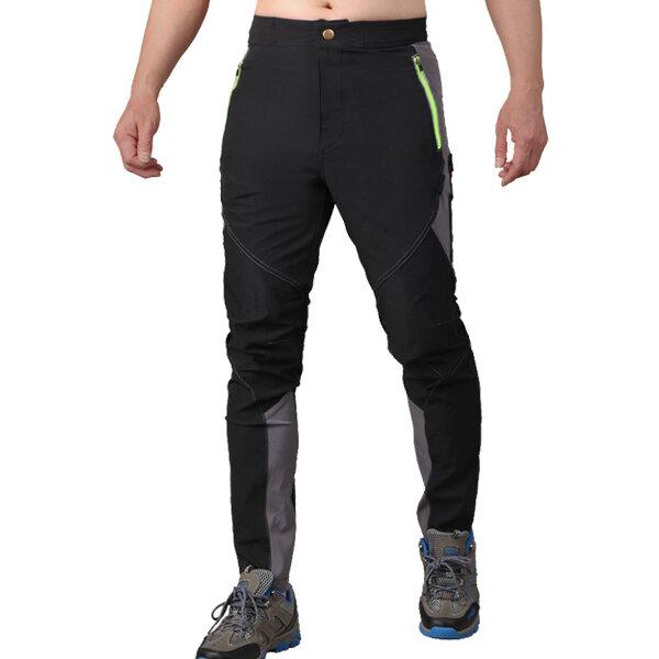 Hommes Ultra ultra minces imperméable à l'eau Haute élastique Sport pantalons Quick Dry respirant Slim Fit Trousers