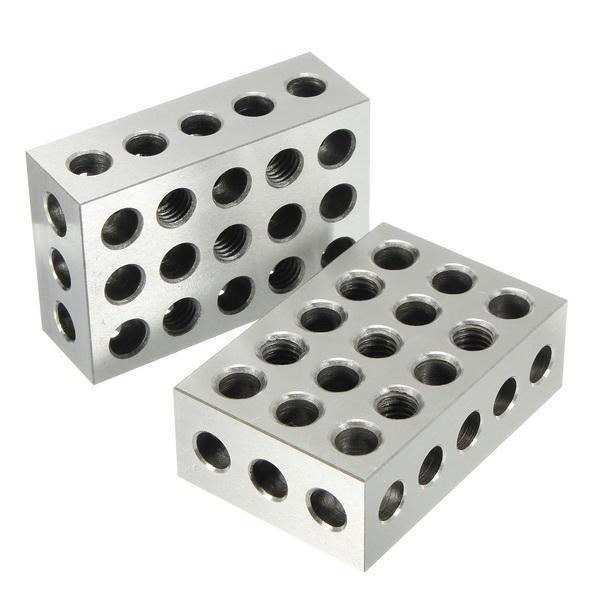 Machifit 2шт 25x50x75 мм блоки 23 отверстия параллельный зажимной блок токарный станок Набор точность 0,005 мм