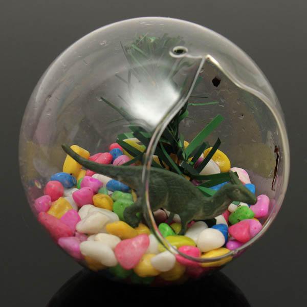 Forma di palla che appende il vaso di vetro impianti succulenti paesaggio micro eco bottiglia