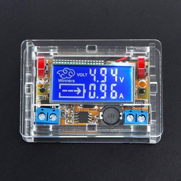 DC-DC Módulo de Fuente de Alimentación Ajustable de Reducir el Voltaje Con Pantalla de LCD Con Cubierta