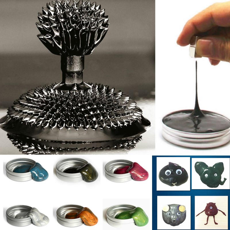 Magnetic Mud Plasticine Putty Ferrofluid Dense Ferro Fluid Magnet Toys