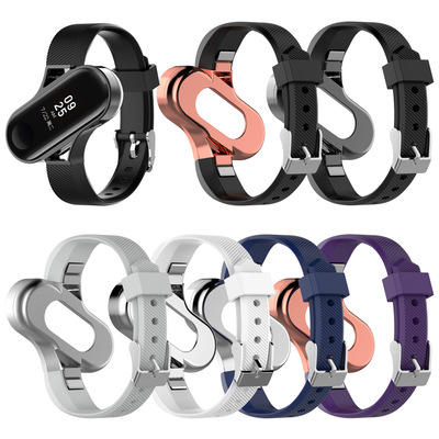 Bakeey Unique Design Watch Band Full Alloy Replacement Watch Strap for Xiaomi Mi band 3