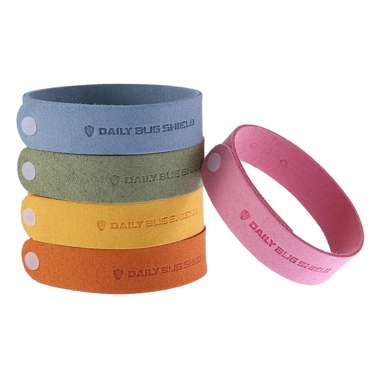 12pcs Fiber Mosquito Repellent Bracelet naturel à base de plantes pour les femmes pour les hommes