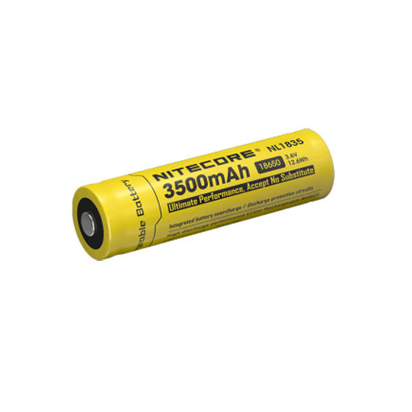 Nitecore NL1835 3.6V 3500mah 18650 Protected Li-ion Rechargeable Battery