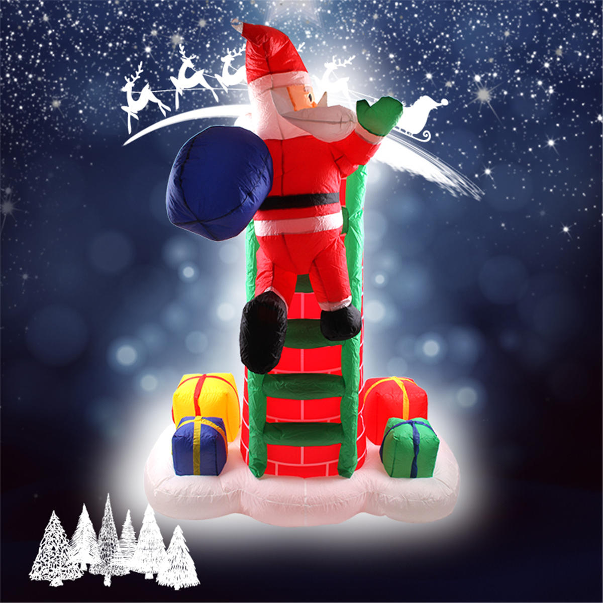 """2.4M/94.49"""" Inflatable Toys Xmas Christmas Yard Party Decoration Toys Father Christmas"""