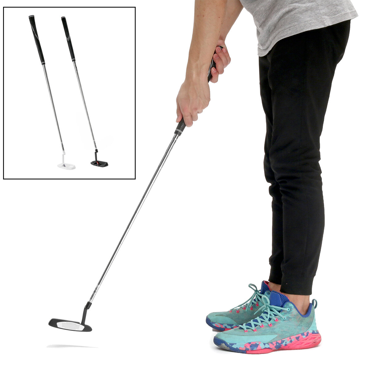 34inch 35inch Stainless Steel Golf Putter Men Women Right Hand Grip Club Game Ball Practice Tool