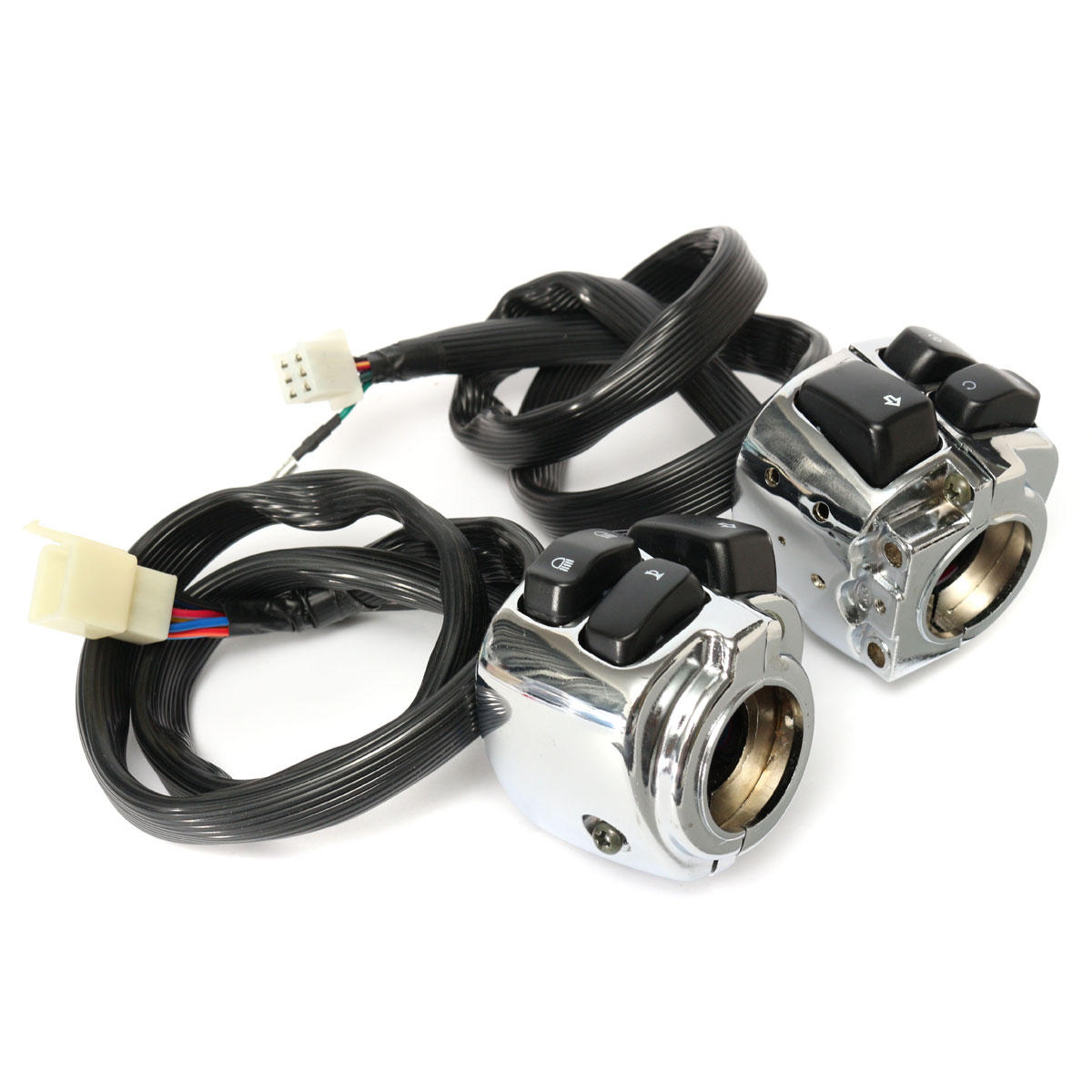 1 Inch Handlebar Control Switches With Wiring Harness For Harley Motorcycle Tubing