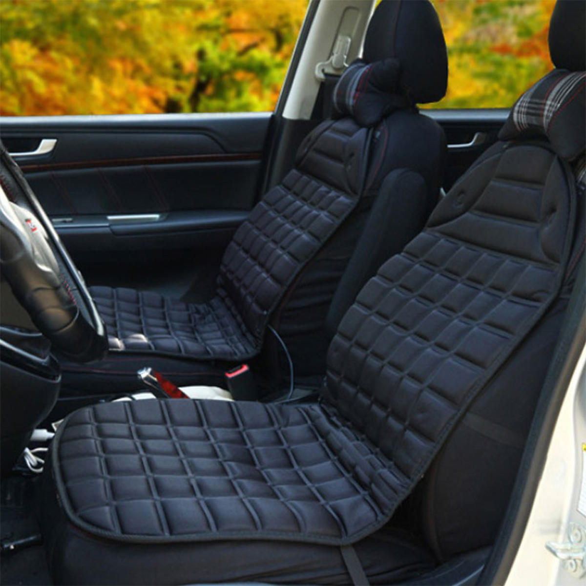 12v 30w Polyester Car Front Seat Heated Cushion Warmer Winter Household Cover Electric Mat Cod