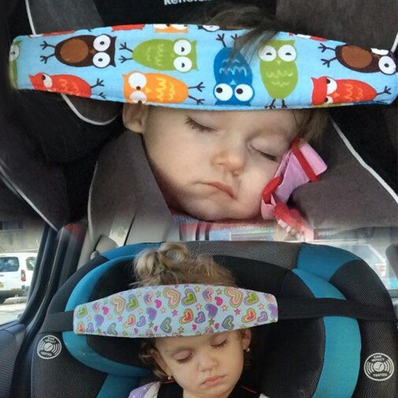 Children Cart Safety Seat Wait Doze Off Go To Bed Fixed Head Bands