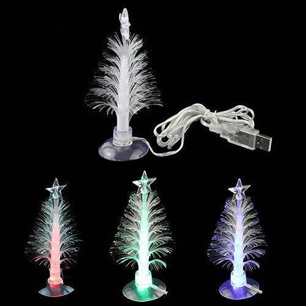 usb powered led christmas tree light with sucker color changing romantic lamp decor