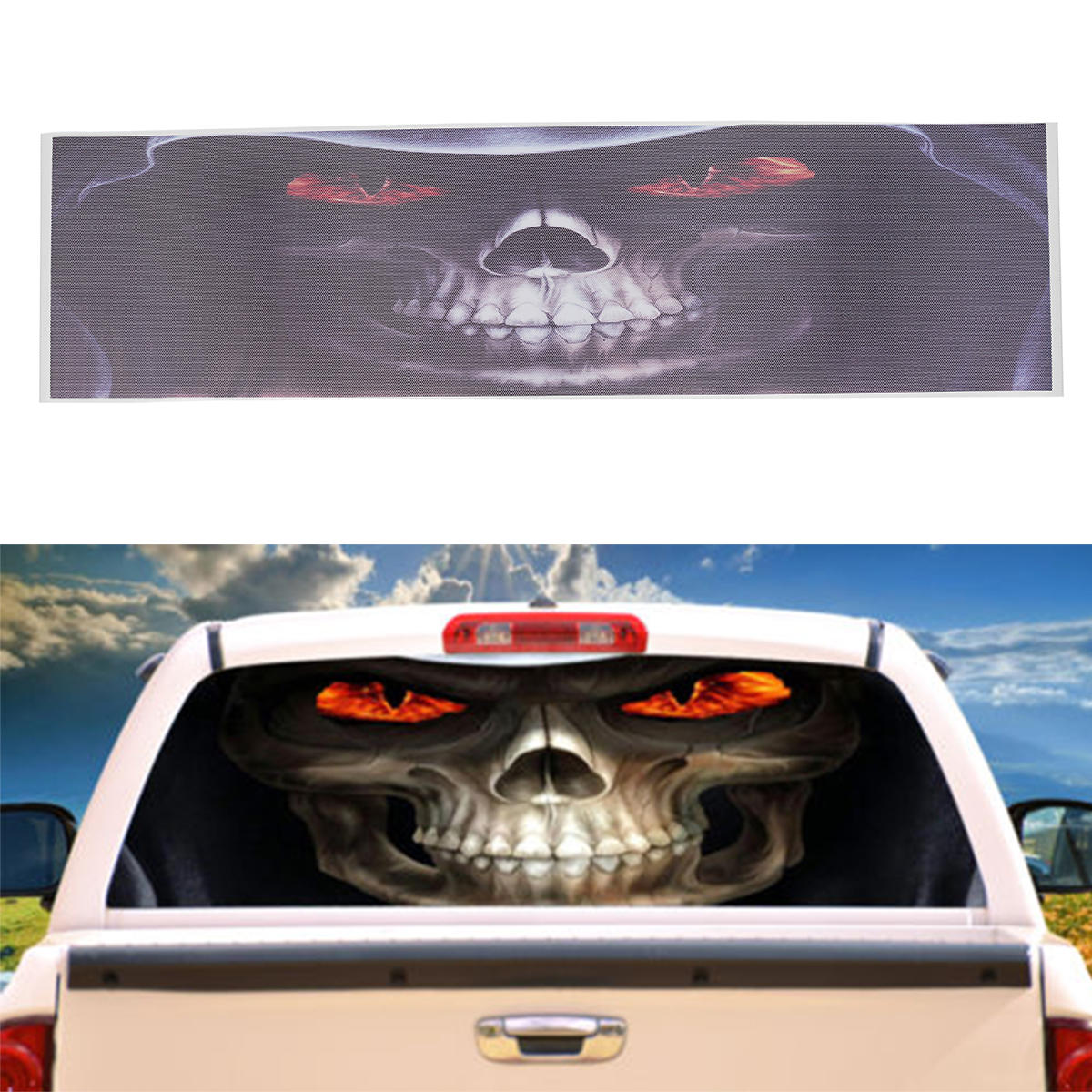 Grim Reaper Car Rear Window Graphic Decal Stickers For Truck Suv Van Cod
