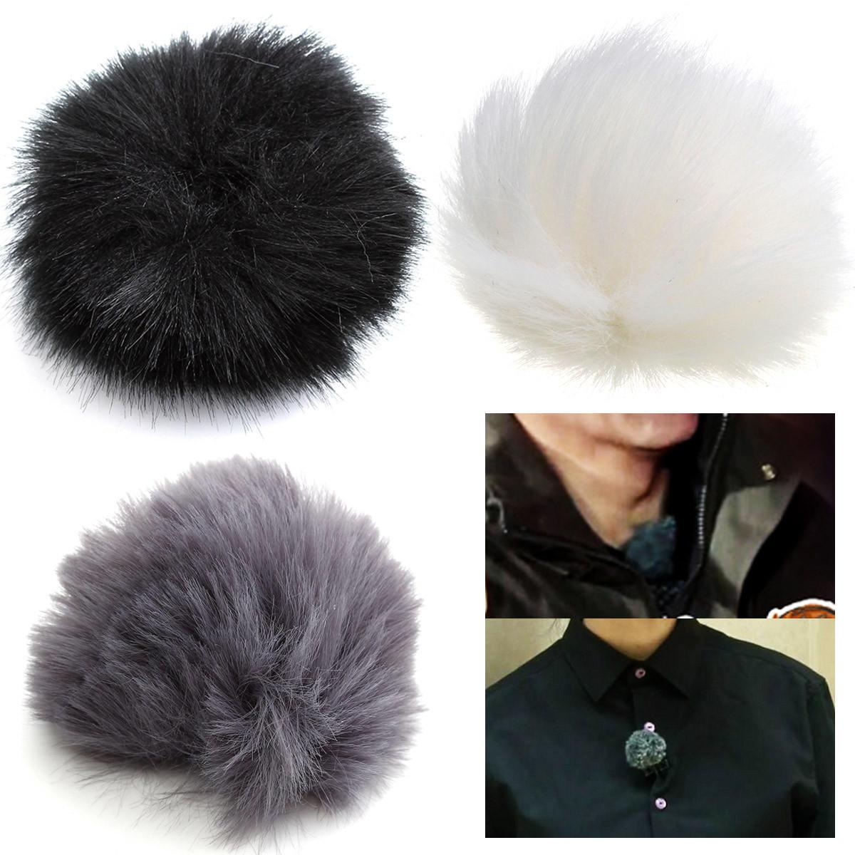 3 Colors Fur Windscreedn Wind Shield Wind Muff for Lapel Lavalier Microphone Mic