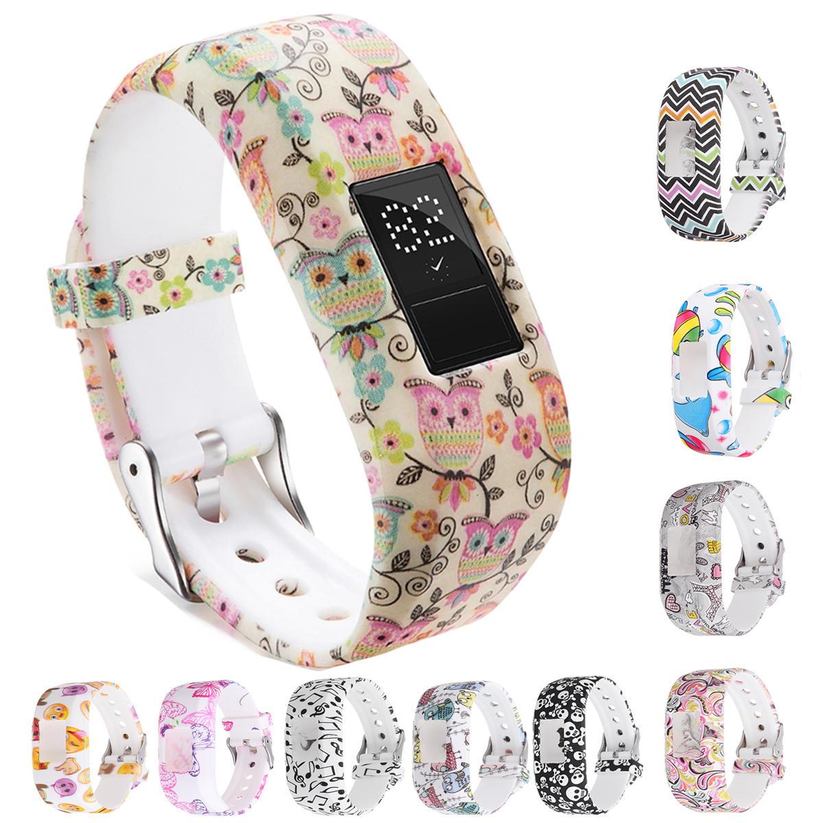 Bakeey Montre de rechange en silicone pour montre de sport Bande Bracelet pour traqueur junior de Garmin Vivofit JR