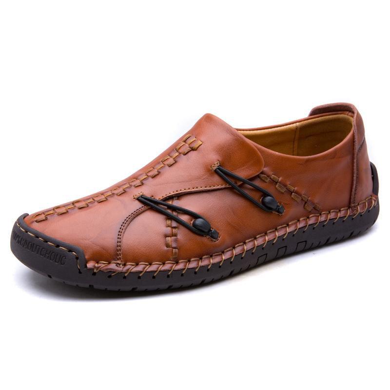 Мужская удобная Натуральная Кожа Soft подошва Оксфорд обувь