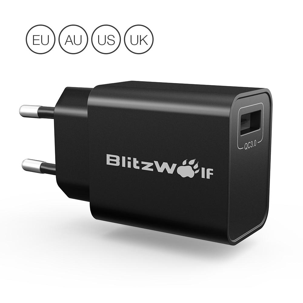 BlitzWolf® BW-S9 18W USB Charger EU US UK AU Adapter