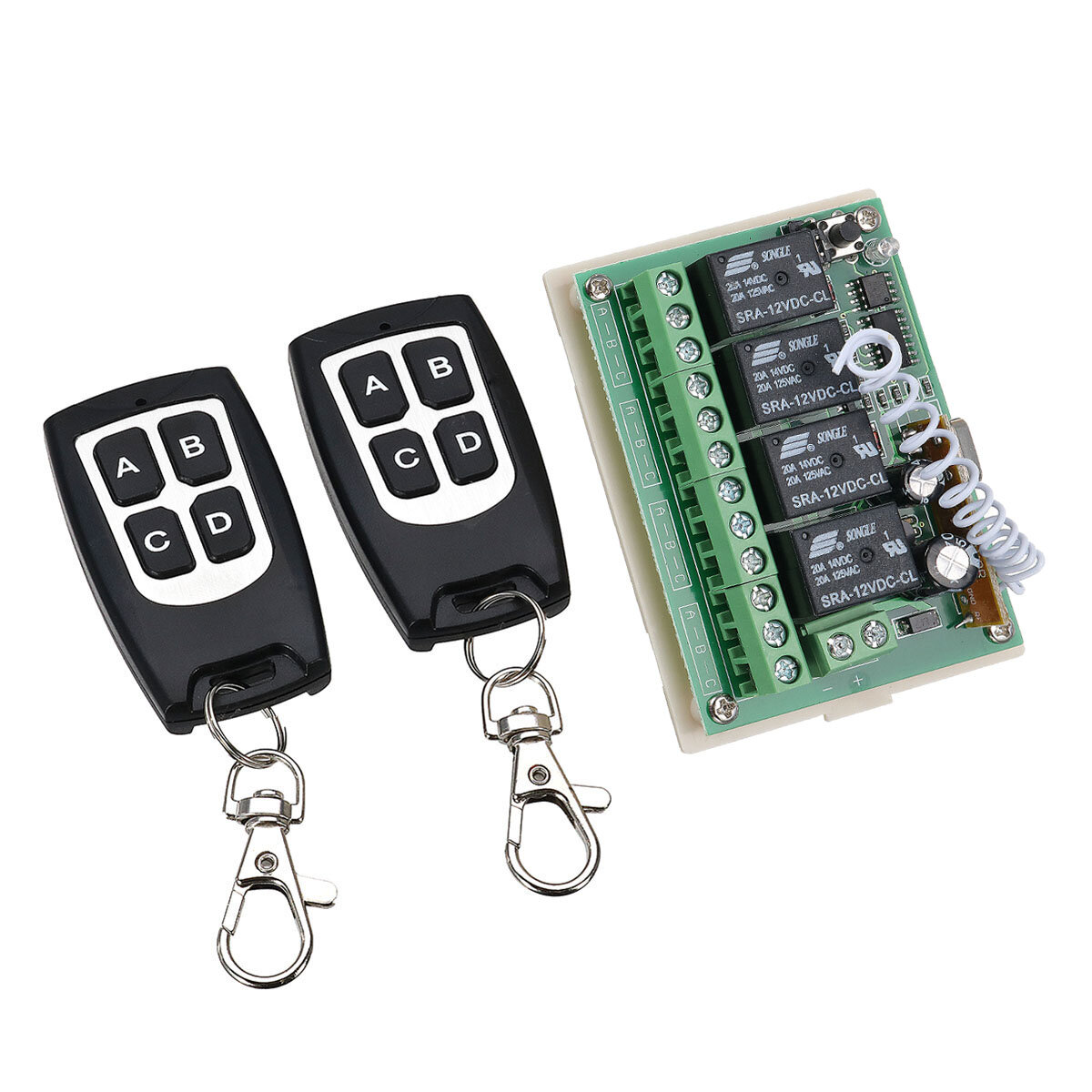 Geekcreit 12v 4ch Channel 433mhz Wireless Remote Control Switch Easy Fm Tracking Transmitter With 2
