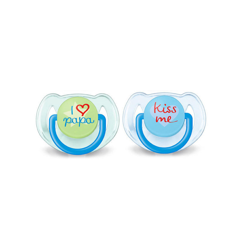 Avent 2pc 유아 실리콘 젖꼭지 (6-18M 용) Baby Soother BPA 무료 유아용 Orthodontic 젖꼭지 Teether