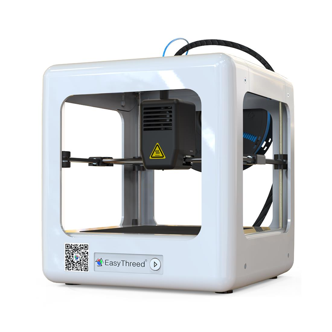 Easythreed® NANO Mini Fully Assembled 3D Printer for Household Education & Students 90*110*110mm Printing Size Support One Key Printing with 1.75mm 0.4mm Nozzle/CE Certificate