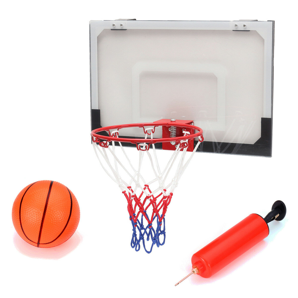 Mini Basketball Set Indoor Net Hoop with Ball Pump Indoor Sporting Game  Goods COD d22b6f7324