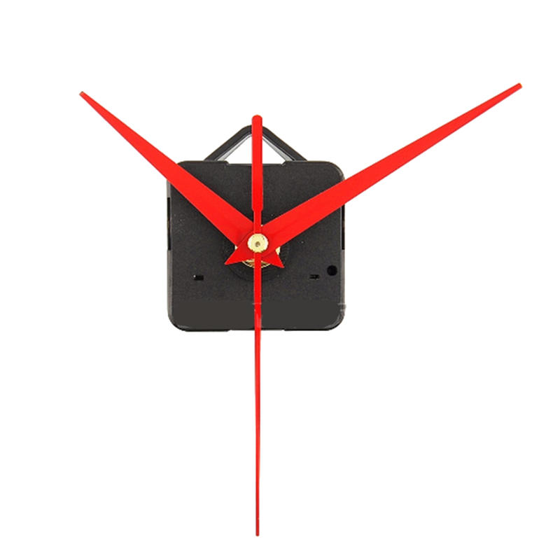 10pcs bricolage rouges Triangle Mains Quartz Wall Clock Movement Mechanestm