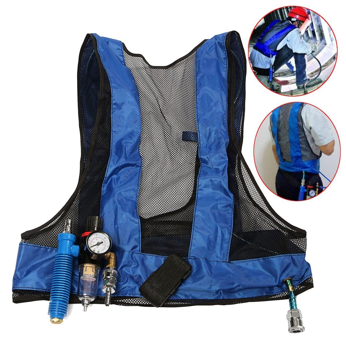 Vortex Tube Air Conditioner Waistcoat Compressed Air Cooling Vest Welding  Steel COD fa3fef4fe8fd2