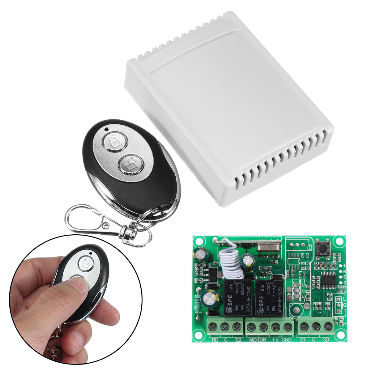 433mhz Wireless Rf Switch Dc12v Relay Transmitter Receiver Module Circuit And 433 Mhz Remote Controls For Dc