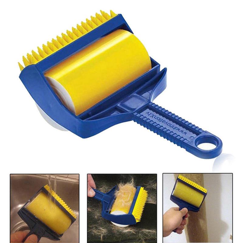 Honana BC-608 2adet yeniden kullanılabilir yapışkan Saç Temizleyici Temizleyici Fırça Temizleyici Lint Silindir Çamaşır Temizleyici