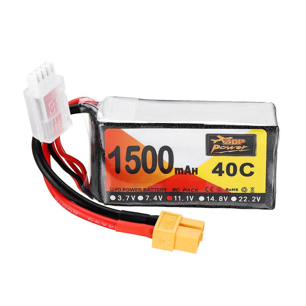 ZOP Alimentazione 11.1V 1500mAh 40C 3S Batteria Lipo XT60 Spina