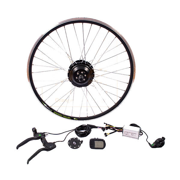Bikight 36V 250W 26Inch DIY Electric Mountain Bike Modification Motor Front Wheel Controller Bicycle Kits