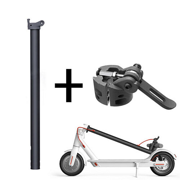 Black Folding Pole + Base Replacement Spare Parts For Xiaomi M365 Electric Scooter