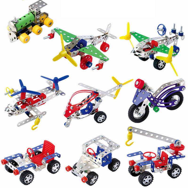 La suposición monta de metal tornillo de aleación de bricolaje juguete desmontaje del vehículo chico juguete de la aleación creativa montado