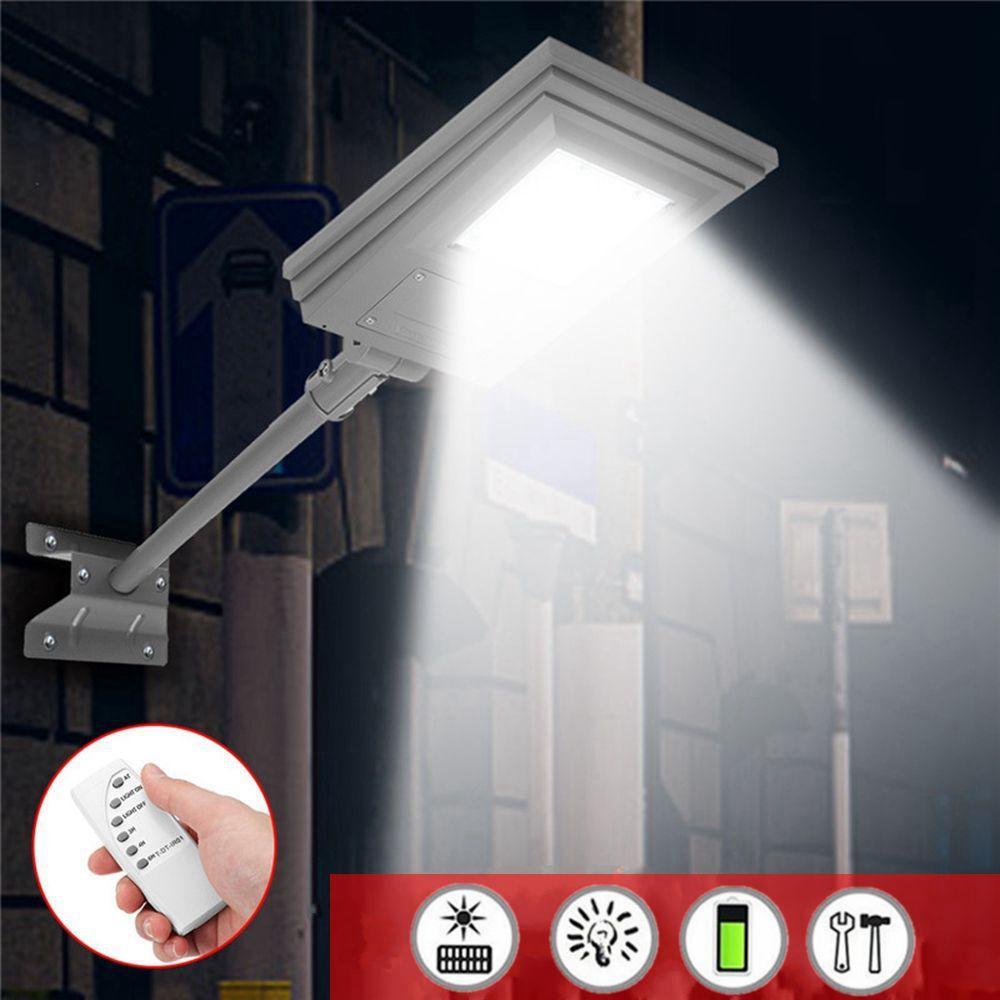 20W Impermeable Solar Luz de calle alimentada Control remoto / Control de luz con soporte al aire libre Pasarela de jardín